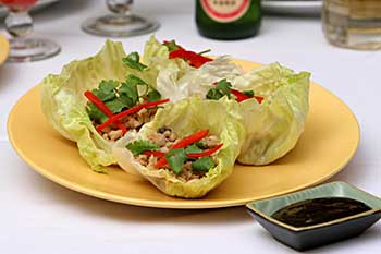 Asian Lettuce Wraps, a lactose-free recipe