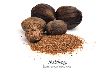 Nutmeg, both whole and ground