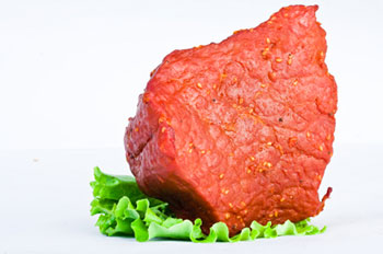 A piece of raw beef