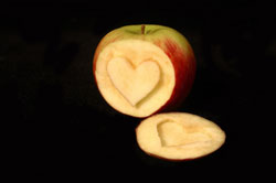 Heart in Apple