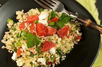 Quinoa Tabbouleh, full of whole grains and vegetables