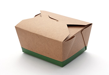 a cardboard takeout or leftover box
