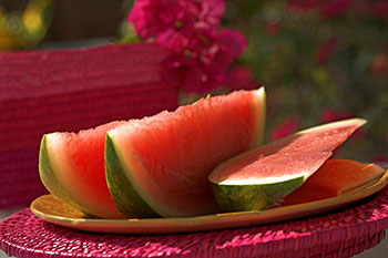 slices of fresh watermelon