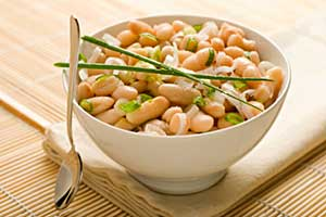 white beans in a salad