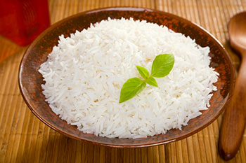 a bowl of cooked white rice