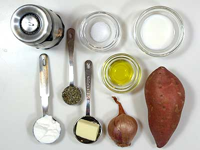 Ingredients for Mashed Yams with Sage