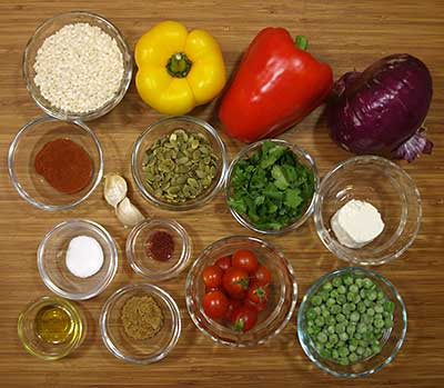 Ingredients for Green Goddess Dressing