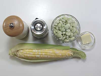Ingredients for Succotash