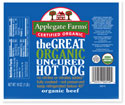 Applegate Farms Great Organic Uncured Hot Dog