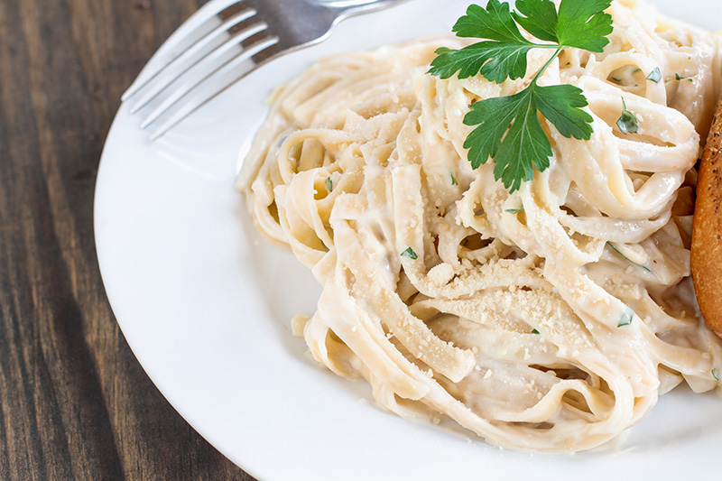 Fettuccine Alfredo, a 30-minute recipe from Dr. Gourmet
