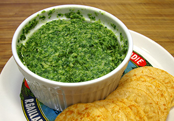 Healthy Artichoke Spinach Dip recipe from Dr. Gourmet