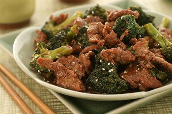 Asian-style beef with broccoli, perhaps a Paleo-style recipe
