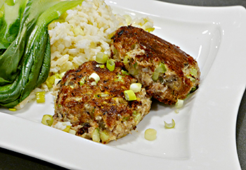 Asian Crab Cakes, an easy healthy recipe from Dr. Gourmet