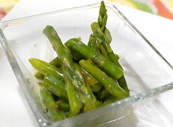 Asparagus Salad with Orange Thyme Glaze recipe from Dr. Gourmet