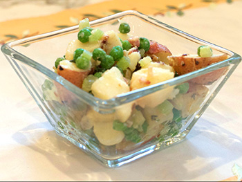 Bacon Thyme Potato Salad recipe from Dr. Gourmet