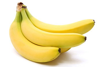 bananas, a good source of potassium