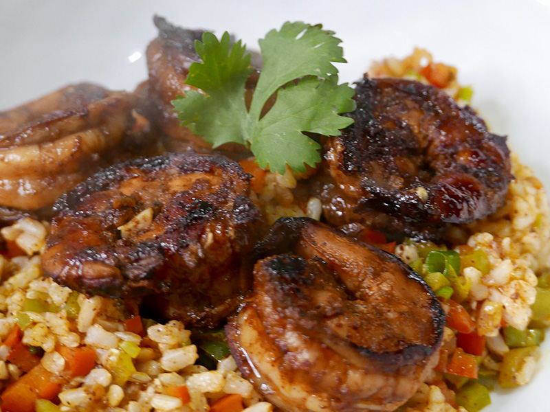 Spicy Barbecue Shrimp recipe from Dr. Gourmet - an important point in your Mediterranean diet score