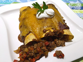 Beef Enchiladas recipe from Dr. Gourmet