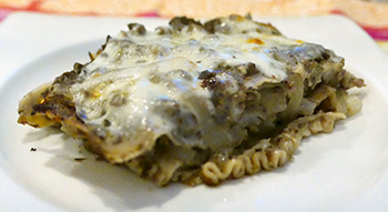 Beef & Mushroom Lasagna, a healthy recipe from Dr. Gourmet