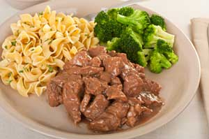 Beef Tips in Brown Gravy
