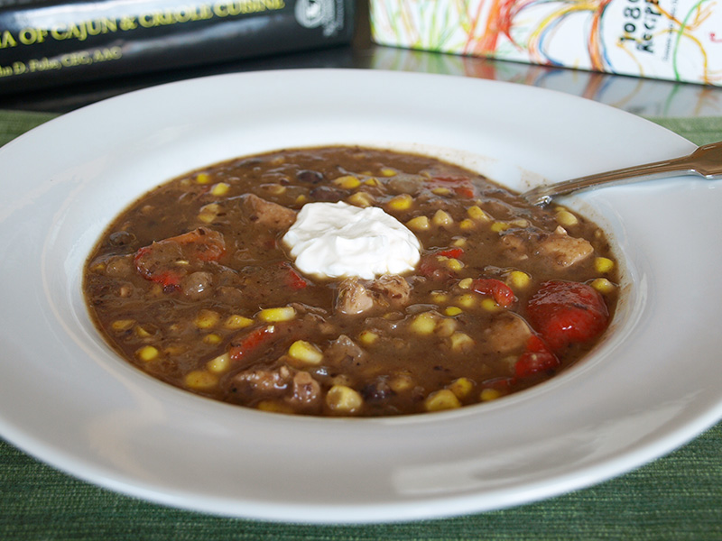Black Bean and Corn Stew recipe from Dr. Gourmet