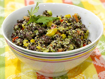 Black Bean and Black Quinoa Salad recipe from Dr. Gourmet