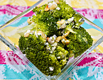Broccoli Blue Cheese Salad recipe from Dr. Gourmet
