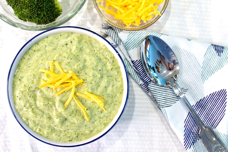 Broccoli Cheese Soup recipe from Dr. Gourmet
