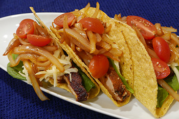 Cajun Chicken Tacos, a recipe from Dr. Gourmet