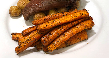 Roasted Carrots with Fennel recipe from Dr. Gourmet