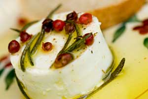 Goat Cheese with Rosemary and Olive Oil