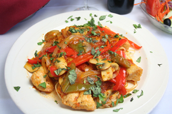 Healthy Chicken Cacciatore recipe from Dr. Gourmet