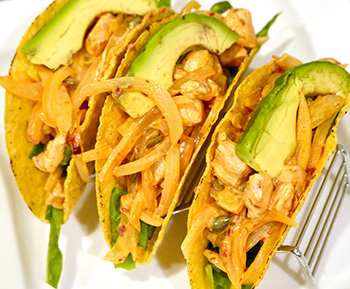 Chipotle Chicken Tacos - a healthy recipe from Dr. Gourmet
