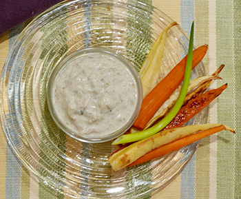Healthy Clam Dip recipe from Dr. Gourmet