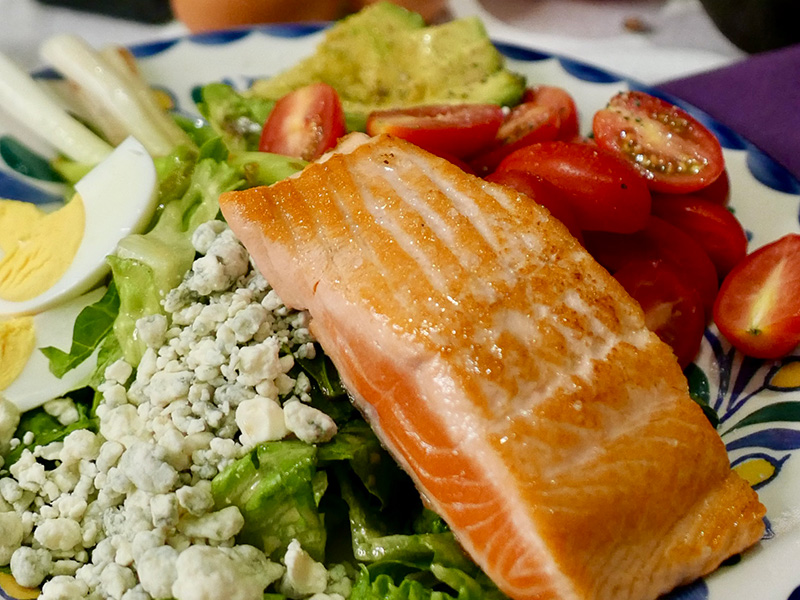 Cobb Salad with Grilled Salmon