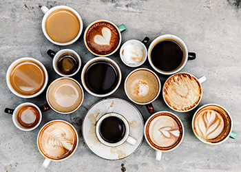 a variety of coffees