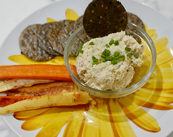 Healthy Crab Dip recipe from Dr. Gourmet