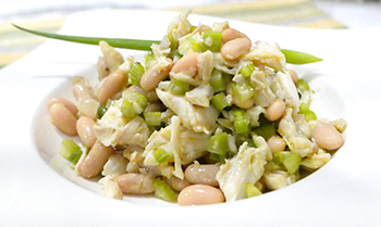 Crab and White Bean Salad recipe from Dr. Gourmet