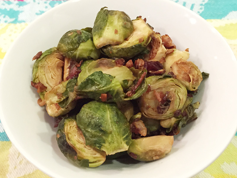 Holiday Brussels Sprouts with Prosciutto recipe from Dr. Gourmet