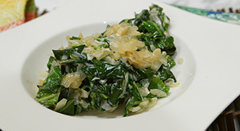 Creamed Collard Greens recipe from Dr. Gourmet