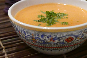 Creamy Carrot Ginger Soup from Dr. Gourmet