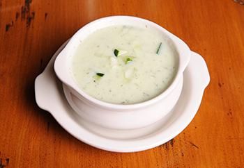 Iced Cucumber Soup recipe from Dr. Gourmet