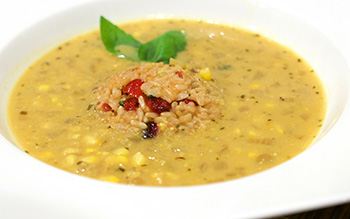 Curried Corn Soup recipe from Dr. Gourmet