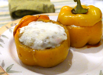 Curry Stuffed Peppers recipe from Dr. Gourmet