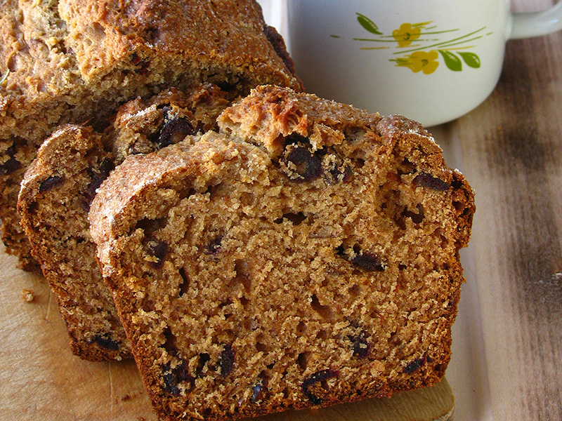 Date Nut Bread recipe from Dr. Gourmet