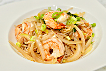 Drunken Noodles, an easy healthy recipe from Dr. Gourmet
