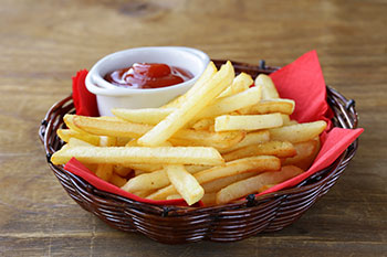 Healthy Oven-Baked French Fries from Dr. Gourmet