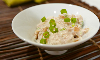 Healthy French Onion Dip recipe from Dr. Gourmet