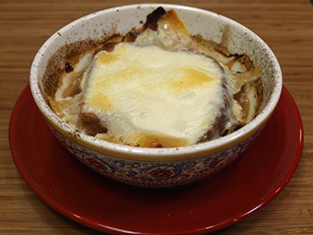 Traditional French Onion Soup recipe from Dr. Gourmet