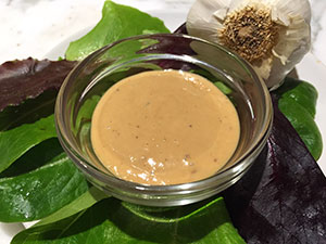 Ginger Garlic Salad Dressing from Dr. Gourmet